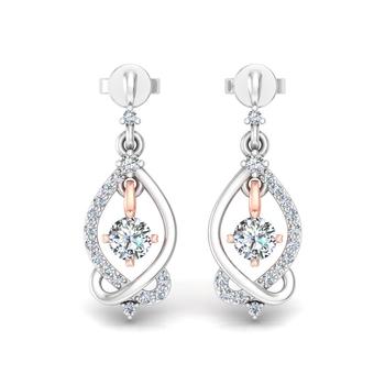 Entangled eye earrings