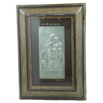 Silver Radhakrishna Frame by Bharat Traders