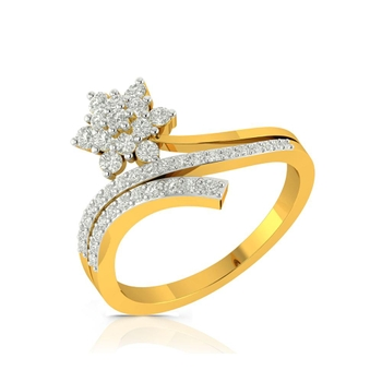 Buy Charu Jewels Diamond Ladies Ring CJLR0036 Online in India
