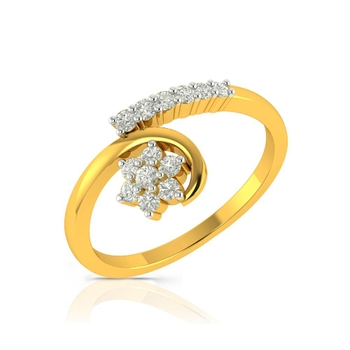 Buy Charu Jewels Diamond Ladies Ring CJLR0133 Online in India