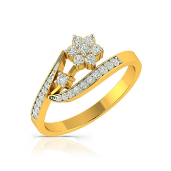 Buy Charu Jewels Diamond Ladies Ring CJLR0193 Online in India