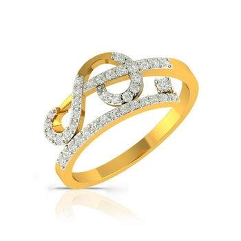 Buy Charu Jewels Diamond Ladies Ring CJLR0200 Online in India