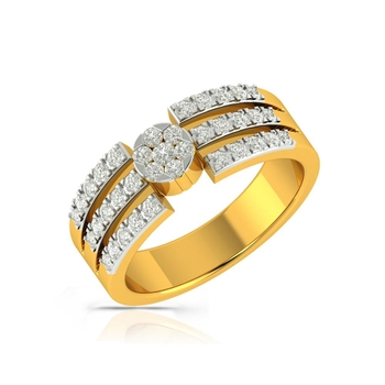 Buy Charu Jewels Diamond Ladies Ring CJLR0266 Online in India
