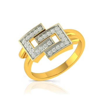 Buy Charu Jewels Diamond Ladies Ring CJLR0288 Online in India