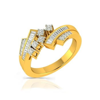 Buy Charu Jewels Diamond Ladies Ring CJLR0329 Online in India