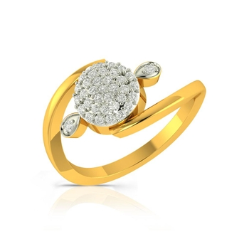 Buy Charu Jewels Diamond Ladies Ring CJLR0368 Online in India