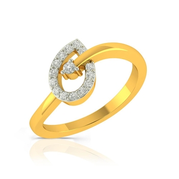 Buy Charu Jewels Diamond Ladies Ring CJLR0380 Online in India