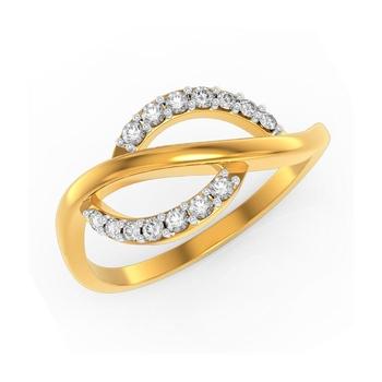 Buy Charu Jewels Diamond Ladies Ring CJLR0392 Online in India