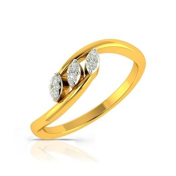 Buy Charu Jewels Diamond Ladies Ring CJLR0416 Online in India