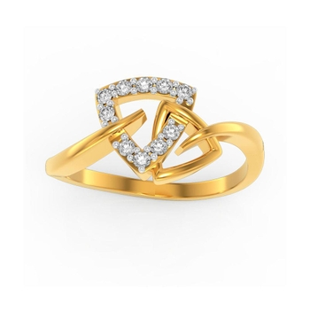 Buy Charu Jewels Diamond Ladies Ring CJLR0422 Online in India