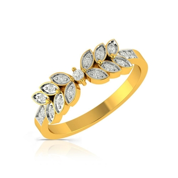 Buy Charu Jewels Diamond Ladies Ring CJLR0497 Online in India