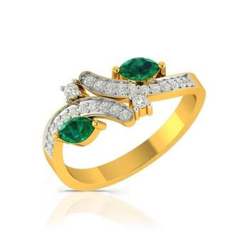 Buy Charu Jewels Diamond Ladies Ring CJLR0510 Online in India