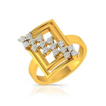Buy Charu Jewels Diamond Ladies Ring CJLR0564 Online in India