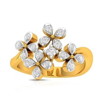 Buy Charu Jewels Diamond Ladies Ring CJLR0775 Online in India
