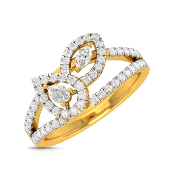 Buy Charu Jewels Diamond Ladies Ring CJLR0919 Online in India