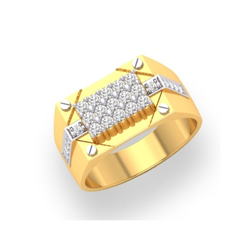Charu Jewels Diamond Ring Made with 9.71 Gms 18 Kt Yellow Gold And 0.75 Carat Diamonds