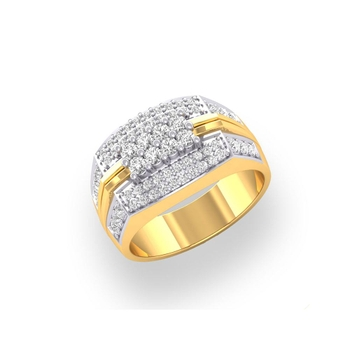 Charu Jewels Diamond Ring Made with 8.81 Gms 18 Kt Yellow Gold And 0.7 Carat Diamonds