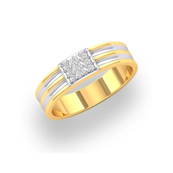 Charu Jewels Diamond Ring Made with 3.8 Gms 18 Kt Yellow Gold And 0.11 Carat Diamonds