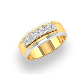Charu Jewels Diamond Ring Made with 7.4 Gms 18 Kt Yellow Gold And 0.44 Carat Diamonds