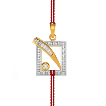 Charu Jewels Out of the box Diamond Pendant for Rakhi