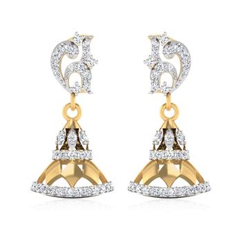 ISKI USKI The Elegant Diamond Jhumki