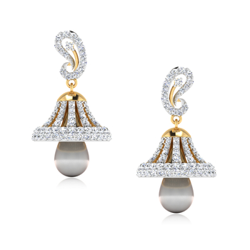 ISKI USKI The Kalakriti Diamond Jhumkas