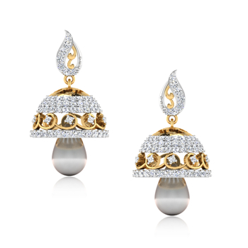 ISKI USKI The Anchala Diamond Jhumkas