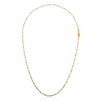 Karatcraft Silver Two Tone Ball Feminah Chain