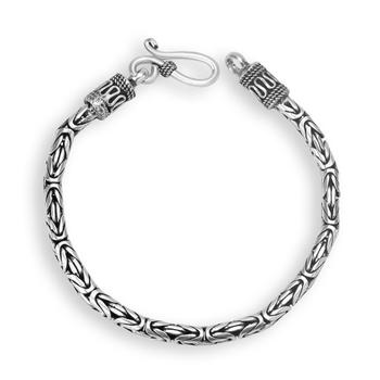 Karatcraft 925 Silver Men Bracelet Antique Tribal Big Design