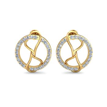 Ornomart's circled love Earrings
