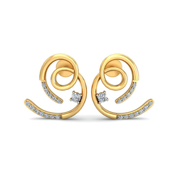 Ornomart's precious curl Earrings