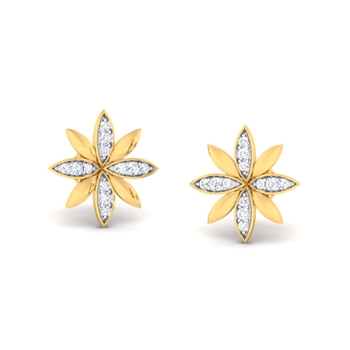 Ornomart's blooming flower Earrings