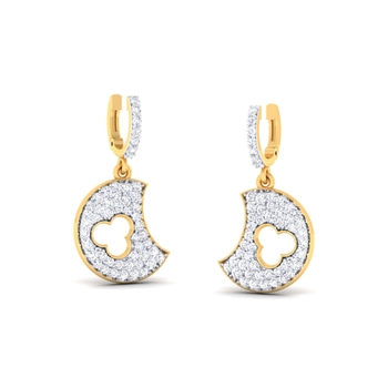 Ornomart's shining moon Earrings