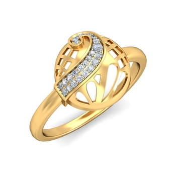 Ornomart's Golden Pearl Ring