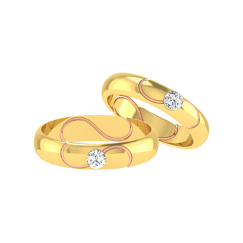 Parshva Jewels' Diamond Couple Band PJ-CB-0052