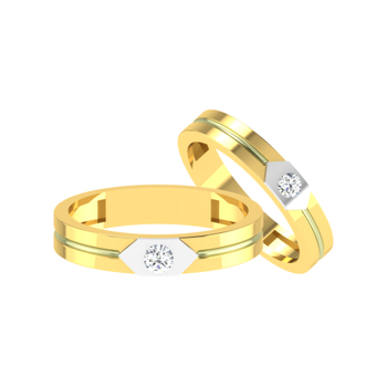 Parshva Jewels' Diamond Couple Band PJ-CB-0006