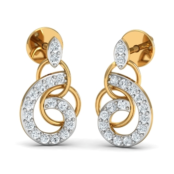 Parshva Jewels' Loop in hoops hanging earring