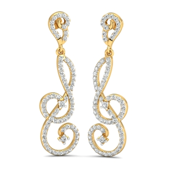 Parshva Jewels' Intertwined twinkles earring