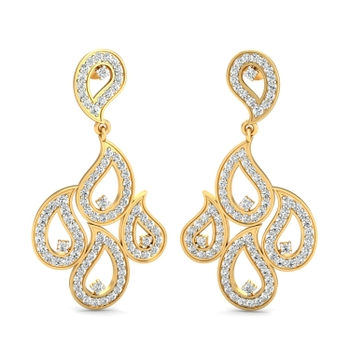 Parshva Jewels' Clustered drops hanging earring