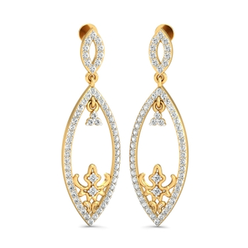Parshva Jewels' Fanciful elliptical earrings