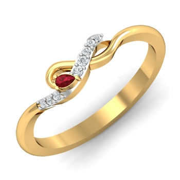 Parshva Jewels' Cherry Drop Ring