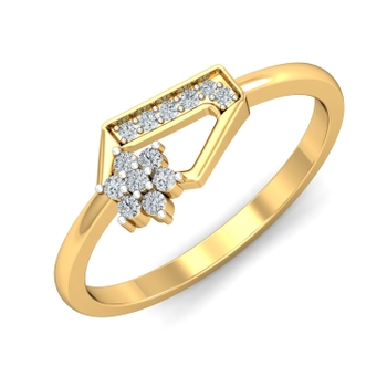 Parshva Jewels' Angled Wonder Ring