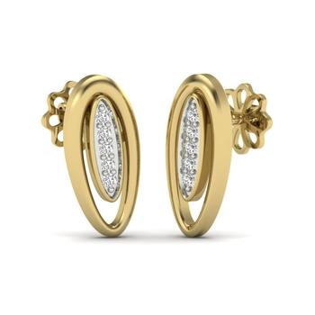 calina Diamons Stud Earrings