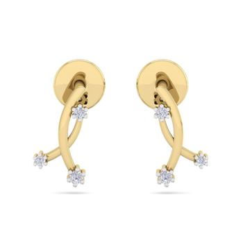 Fine Natural Diamond Studded Designer Earring