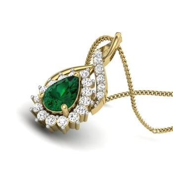 Liza Gemstone Drop Shape Pendant