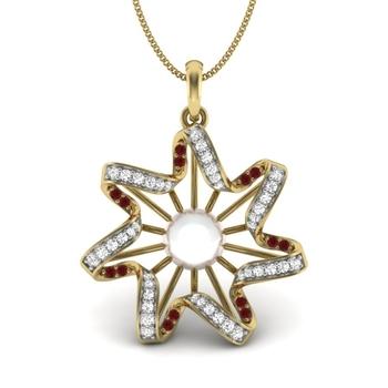Megha star Pearl &  Gemstone Pendant