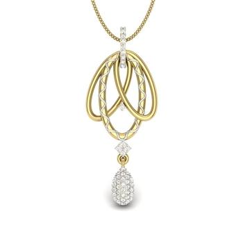 Simi Delicate Pearl With Diamonds Pendant