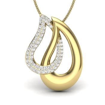Maria diamonds Eye Drop Pendant