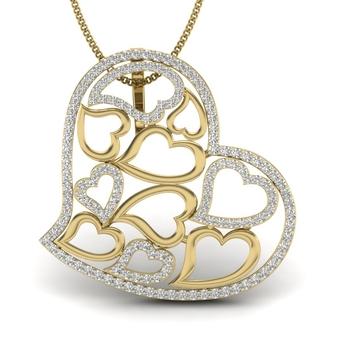 Serly Heart for Love Diamonds Pendant
