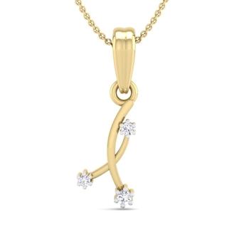 Fine Natural Diamond Studded Designer Pendant For Women